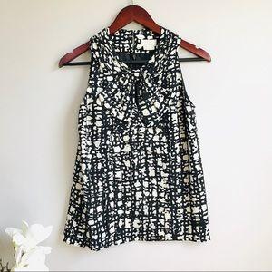 Kate Spade bow detail silk sleeveless blouse - 383